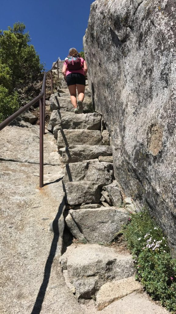 stone stairs on a hike