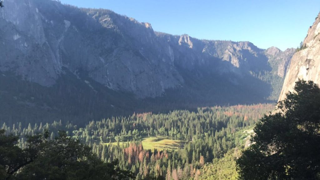 View from Upper Yosemite Falls Trail. Click to read all about this hike!