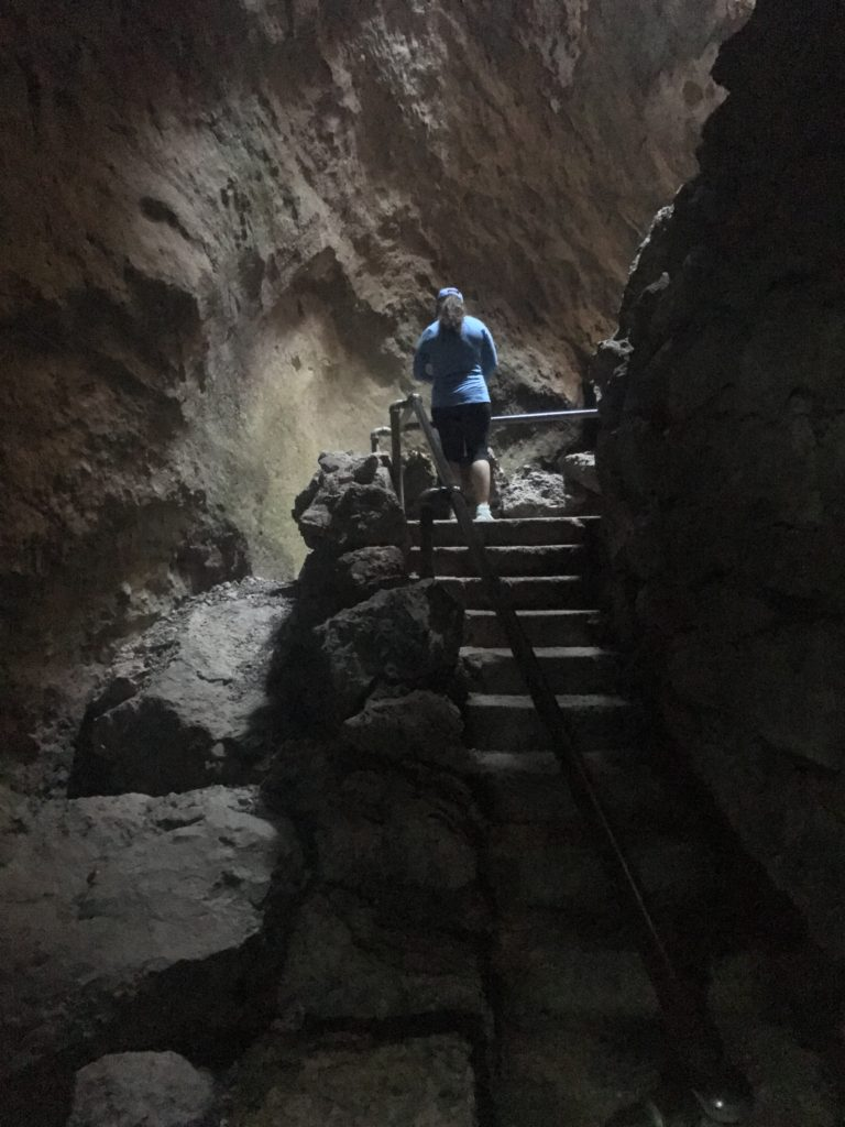 Stairs in a cave
