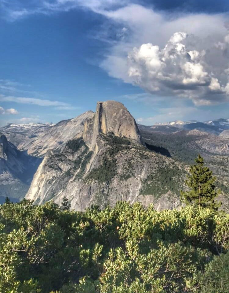 View of Half Dome from Glacier Point in Yosemite National Park