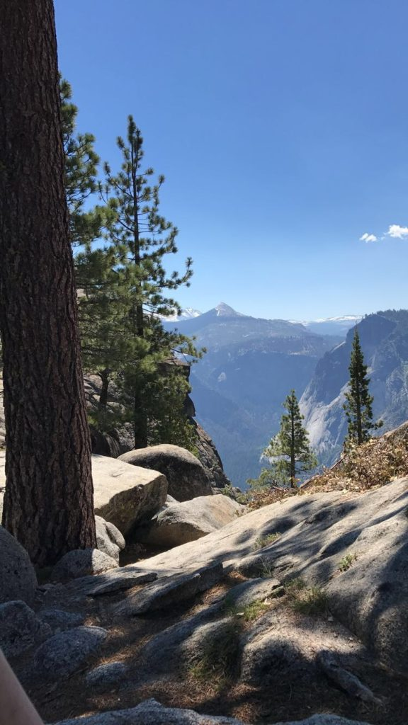 View from the top of Upper Yosemite Falls in Yosemite National Park