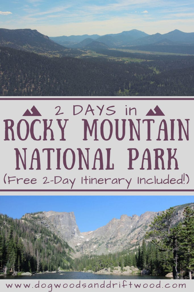 Get the most of your 2 days in Rocky Mountain National Park with this 2-day itinerary! #rockymountains #nationalpark #bearlake #skypond #hiking #emeraldlake #dreamlake