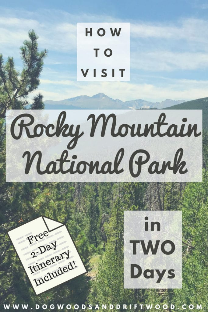 Visit Rocky Mountain National Park in 2 days with this free itinerary! Scenic drives, viewpoints, & hikes! #rockymountains #nationalpark #dreamlake #emeraldlake #skypond #bearlake