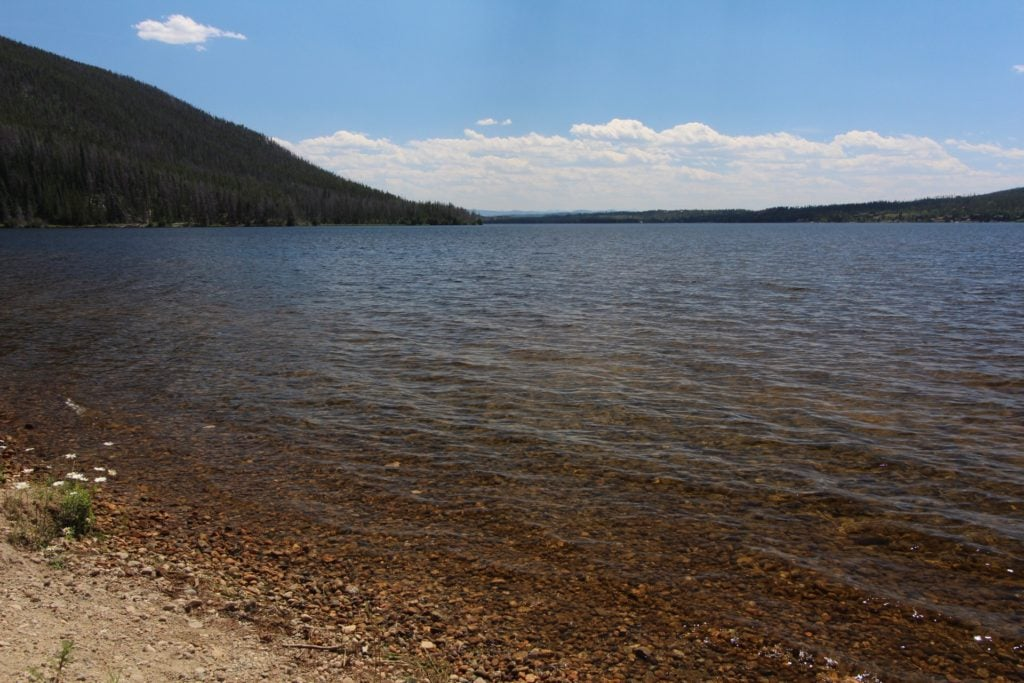 lake with pebble shore