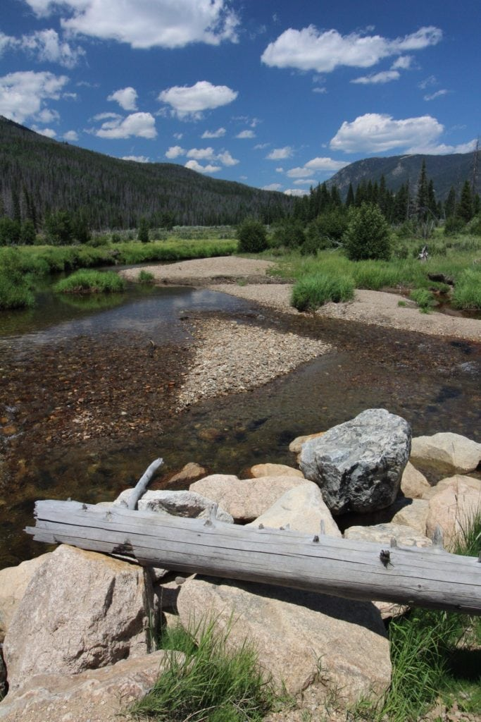 Part of the Colorado River in Rocky Mountain National Park