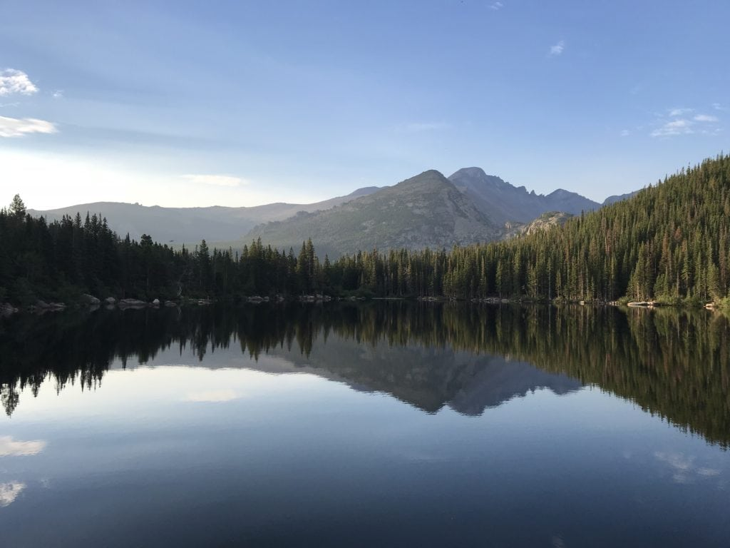 Sunrise at Bear Lake in Rocky Mountain National Park