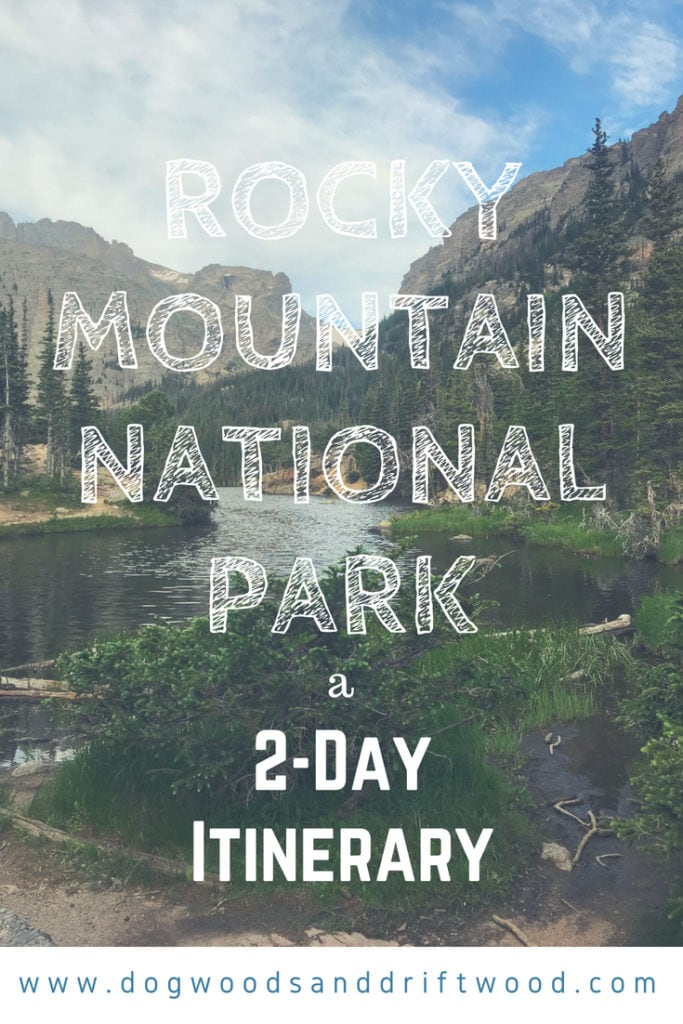 2-Day Itinerary for Rocky Mountain National Park! Scenic drives, viewpoints, hikes, etc! #rockymountains #nationalpark #bearlake #hiking #skypond