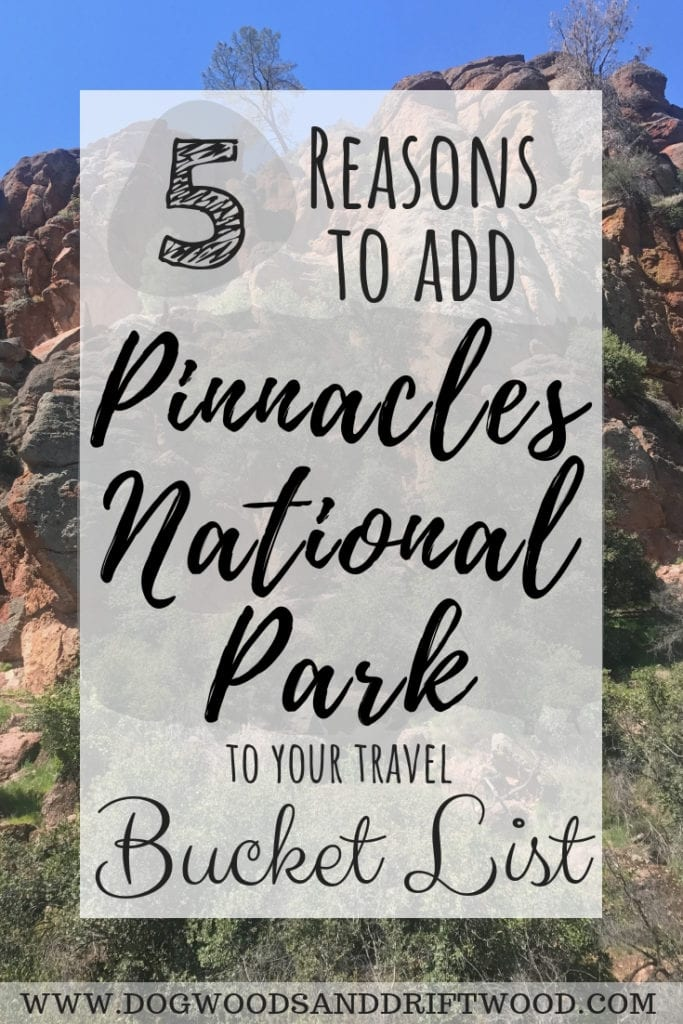 5 Reasons to add Pinnacles National Park to your bucket list of travel destinations! #cavehiking #pinnacles #nationalpark #rockclimbing