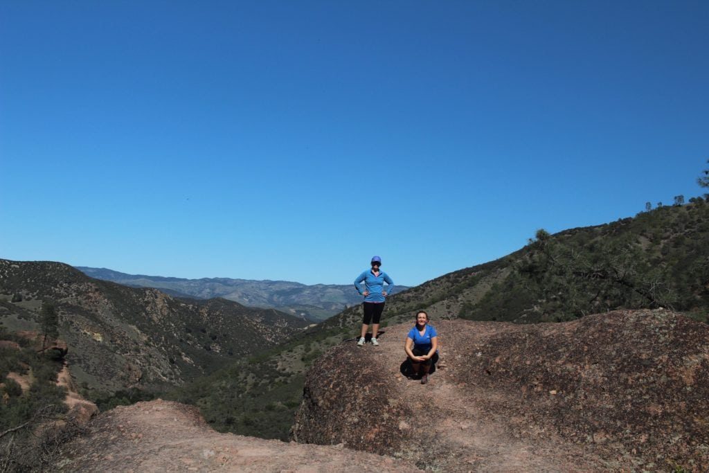 At the top of the Rim Trail in Pinnacles National Park