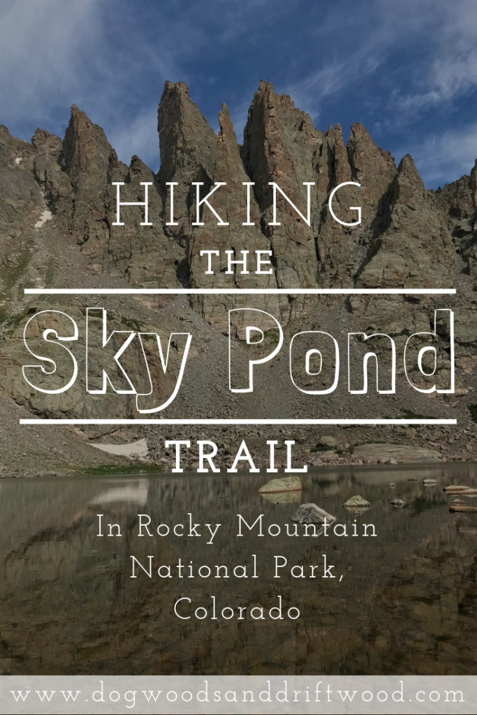 Hike the Sky Pond Trail in Rocky Mountain National Park, Colorado. P.S.- You must scramble up the side of a waterfall to get to Sky Pond! #skypond