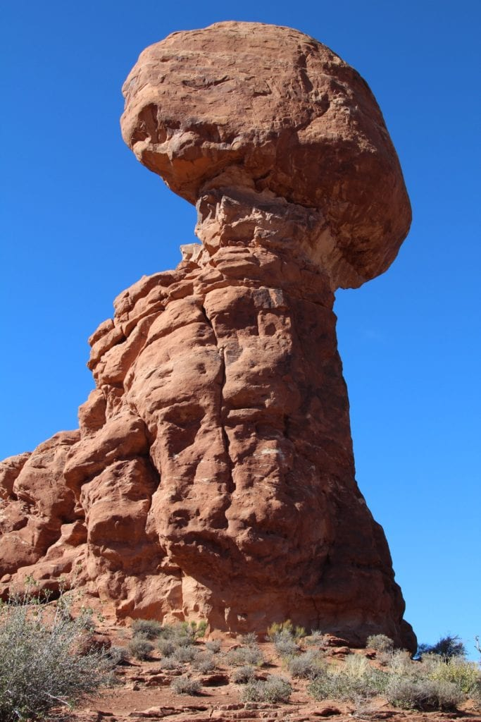 Balanced Rock in Arches National Park, Utah