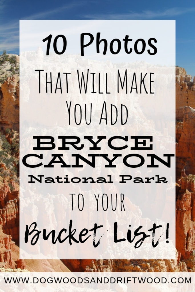 These photos of Bryce Canyon National Park in Utah will make you add this park to your bucket list of travel destinations!  #bryce #brycecanyon #nationalpark
