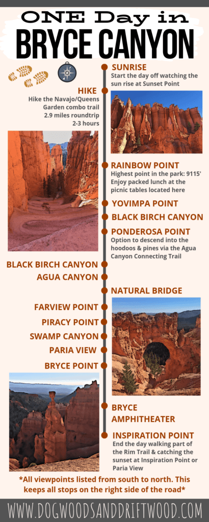 1 Day in Bryce Infographic